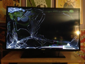 TV mount service to avoid disaster- broken screen