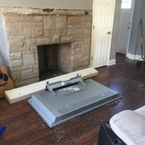 tv mounting service so you can avoid disaster tv falling from above fireplace and shattering