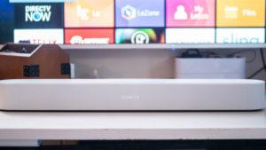 audio/ video services including white sonos soundbar setup