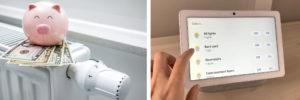smart home installation company saves you money pink piggy bank- control lights
