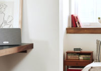 professional audio installation sonos speaker on counter and on window